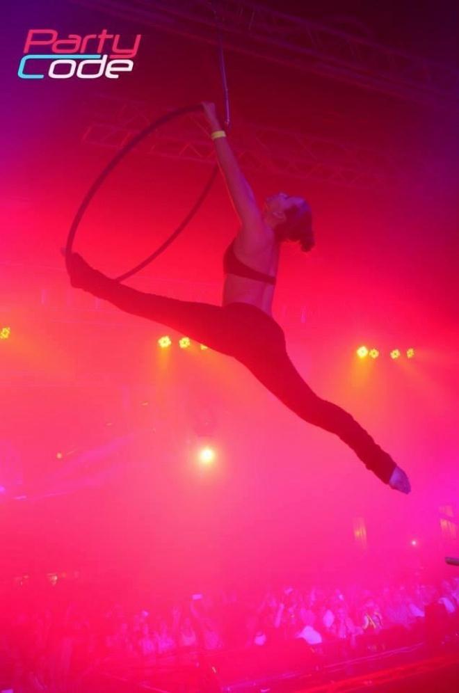 Aerial hoop fellépés